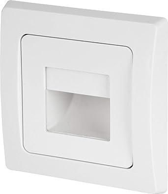 LED Foco empotrable 230 V – Bote para interruptor (60 mm – Ideal como lámpara de orientación + Nivel Lámpara en la escalera – Blanco Cálido (3000 K): Amazon.es: Iluminación