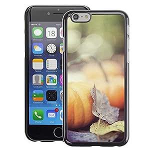 A-type Arte & diseño plástico duro Fundas Cover Cubre Hard Case Cover para iPhone 6 (Autumn Nature Halloween Leaves)