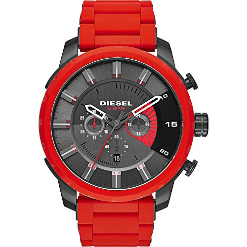 Diesel-Mens-DZ4384-Stronghold-Red-Silicone-Wrap-Watch