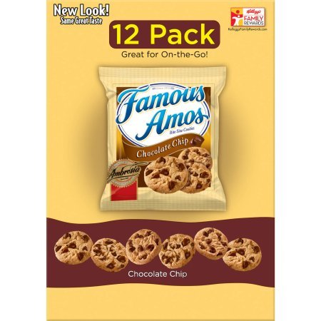 Famous Amos Chocolate Chip Cookies - 12 Pack (4 Box)