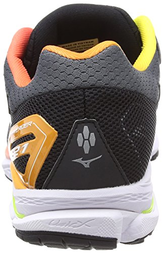 44 Chaussures Wave Rider de Mizuno 21 White Running Osaka Noir Black Homme Multicolore Safetyyellow IUBOxw