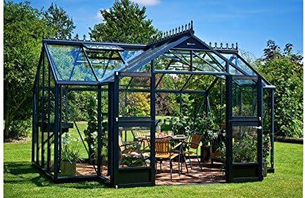 Invernadero Juliana Orangerie 15, 2 m² Antracita/3 mm cristal de seguridad: Amazon.es: Jardín