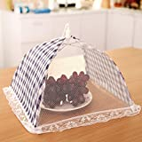 Gotian 31cm Food Cover Kitchen Food Umbrella Cover Picnic Barbecue Party Fly Mosquito Mesh Net Tent (Blue)