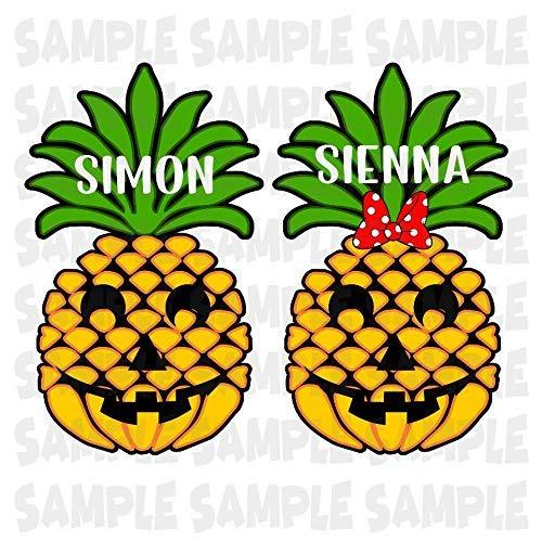 (Disney Pineapple Jack-O'-Lantern Magnet | Halloween on the High Seas | Halloween Scary Pineapple Jack O'Lantern Magnet | Family Magnet For Cruise)
