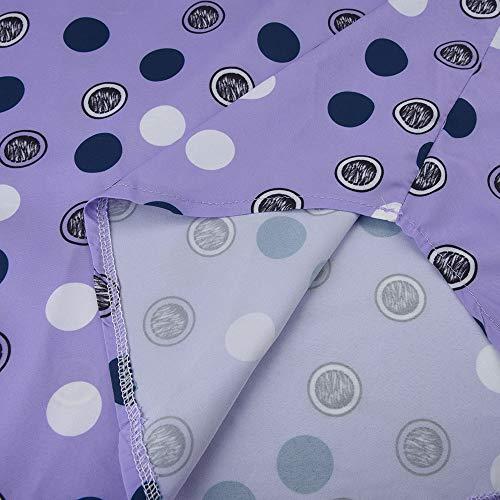 Manches Blouse Bouton T Shirt Casual V 5XL Femme Pois Tops Longues Chemise Printemps Violet Loose Taille Col Grande Chic Tunique avec Automne S Solike PxfYqwIq