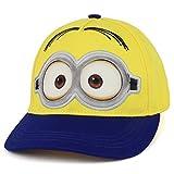 Trendy Apparel Shop Boys Kid's Despicable Me Minions Bob Blue Baseball Cap - Yellow