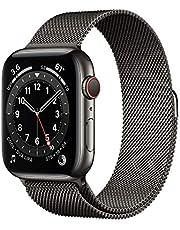 AppleWatch Series6 (GPS+Cellular) • 44mm rostfri stålboett grafit • milanesisk loop grafit