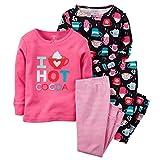 Carters Little Girls' Hot Cocoa 4-Piece Pajama Set (4)
