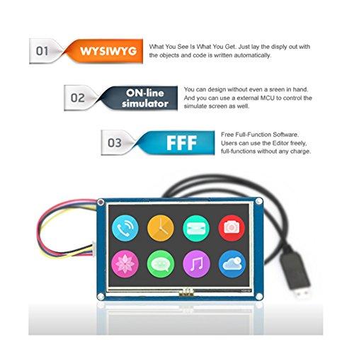 Unikel Nextion HMI Smart LCD-Display, Module TFT, Touch-Panel für