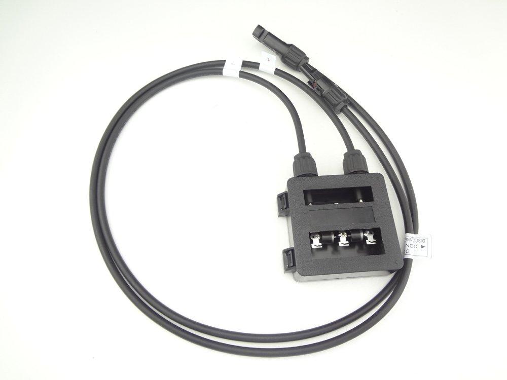 90cm de cable 6 AMP w// MC4 connector w // conector MC4 MISOL 1 x JUNCTION BOX for SOLAR CELLS PANELS 6 AMP 90cm cable//CAJA DE CONEXIONES para las c/élulas solares PANELES