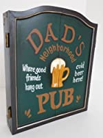 point-home Dartschrank Dartboard Dartscheibe Dart Retrolook Dads Pub