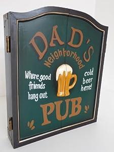 point-home Dartschrank Dartboard Dartscheibe Dart Retrolook Dads Pub