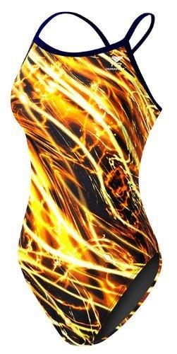 TYR Sport Damens & 039;s Nexus diamondfit Swimsuit (Navy/Gold, Größe 26)