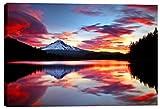 Epic Graffiti Sunrise On The Lake Giclee Canvas Wall Art, 18'' x 26'', Red