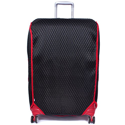 Luggage Glove 3D-Mesh Suitcase Protector Cover with TSA Approved Lock | Patented 3D-Mesh | Medium 25-28 inch | Red by Luggage Glove