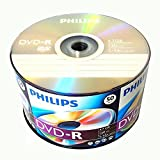 Philips 50 Pack Blank DVD-R DVDR Logo Branded 16X 4.7GB 120min Recordable Media Disc