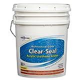 Rainguard International CU- 0205 Seal Acrylic Urethane Coating Low Gloss 5 gal (Ready to Use), Clear