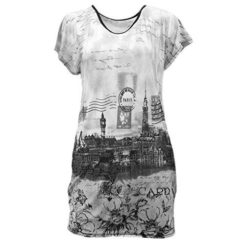Womens Summer Beach Ice Silk Loose Short Sleeve Semi Sheer T-shirts Dress Tunic