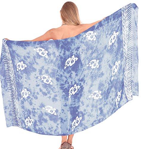 LA LEELA Rayon Swimsuit Scarf Deal Dress Sarong Printed 78