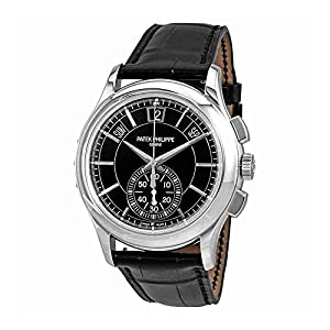 Patek Philippe Complications Black Dial Perpetual Calendar Platinum Mens Watch 5905P-010