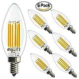 60 watt led candelabra bulbs - NetBoat LED Candelabra Bulb 6W,60 Watt Equivalent ,E12 Base LED Chandelier Light Bulbs,2700K Warm White,Not Dimmable, UL Listed ,6 Pack