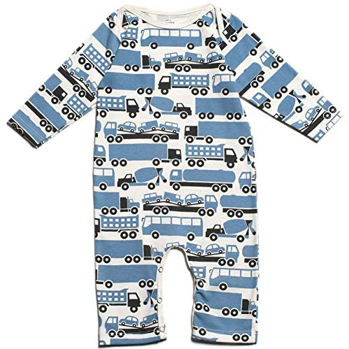 Winter Water Factory Long Sleeve Romper Big Rigs Blue 12 Months (Rig Blue)