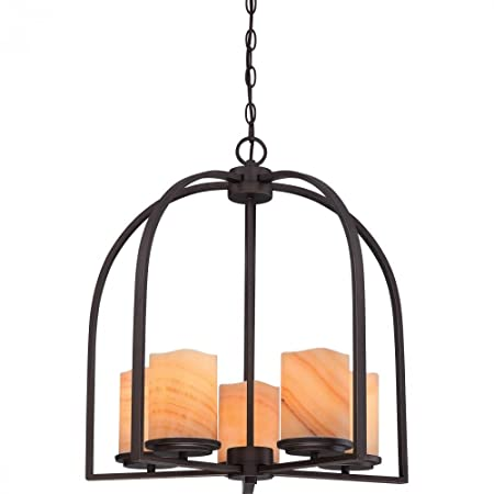 Quoizel CKAD5005PN Aldora with Palladian Bronze Finish, Chandelier and 5 Lights, Brown