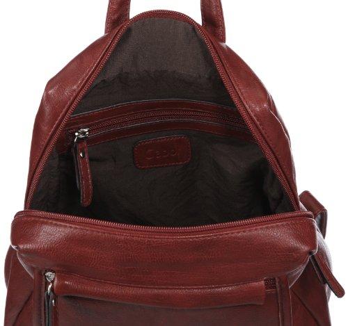 Gabor 6385 48 - Mochila convertible en bolso (23 x 27 x 8 cm) rojo - Rot (dunkelrot 48)