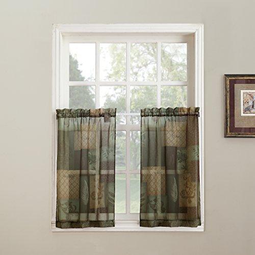 No. 918 Eden Inspirational Theme Kitchen Curtain Tier Pair, 56