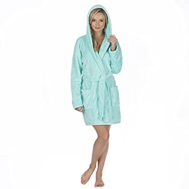 Forever Dreaming Ladies Plus Size Flannel Fleece Dressing Gown
