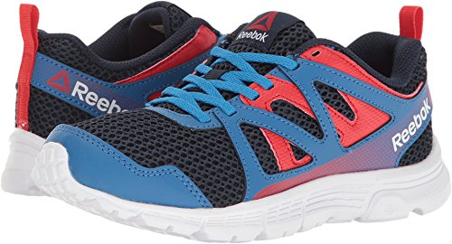 Reebok Kids  Boy's Run Supreme 2.0 (Little Kid/Big Kid) Awesome Blue/Collegiate Navy/Primal Red/White 11 M US Little Kid (Awesome Shoes For Boys)