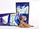 Dog Chewable Treats & Crunch Treats For Dog Training - All Natural & Healthy Dog - Blueberry - Best USA Made, Grain Free, Low Calorie Treats With Flaxseed Oil, Vitamin E & Omega 3 - 10oz