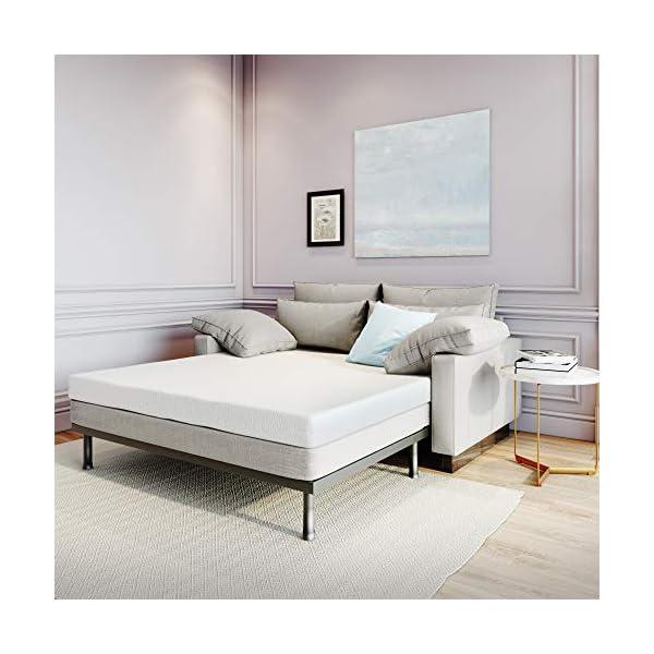 Queen Classic Brands 4.5-Inch Memory Foam  Mattress For Sleeper Sofa Bed