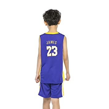 fb9410845 BUY-TO JAMES Jersey Children s Basketball Uniform Kid Suit T-shirt ...