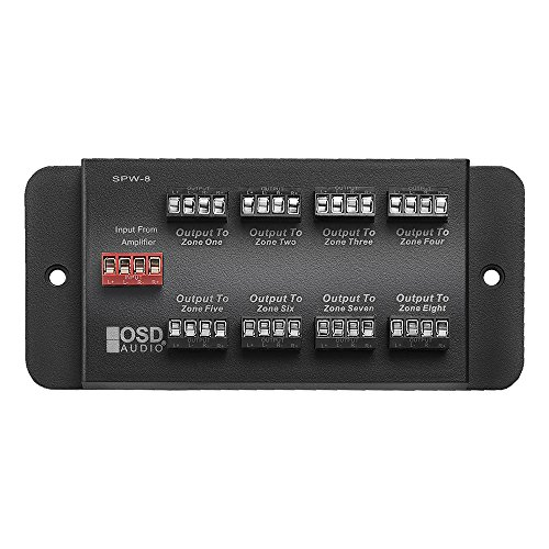 SPW8 Whole House Audio 8-Zone Speaker Distribution Panel Single Audio Input 300W Per Channel - OSD ()