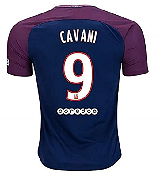 new concept 6895c ee231 Amazon.com: Cavani 9 PSG 17/18 Soccer Jersey Mens Color Blue ...