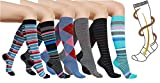 6 Pairs Women's Graduated Compression Trouser Socks 8-15mmHg and 20-30mmHg