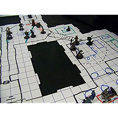 Dry Erase Dungeon Tiles, Combo Set of Five 10