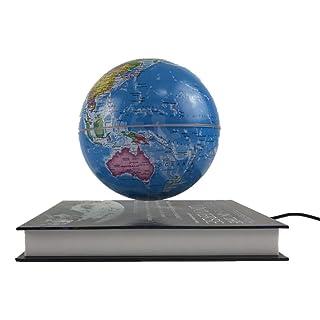 Globo girevole educativo Mappamondo fluttuante Mappamondo mappamondo con luce LED Rotating World Map Regalo educativo Home Office Decoration Geografia rotante della terra ( Dimensione : 4 inches )