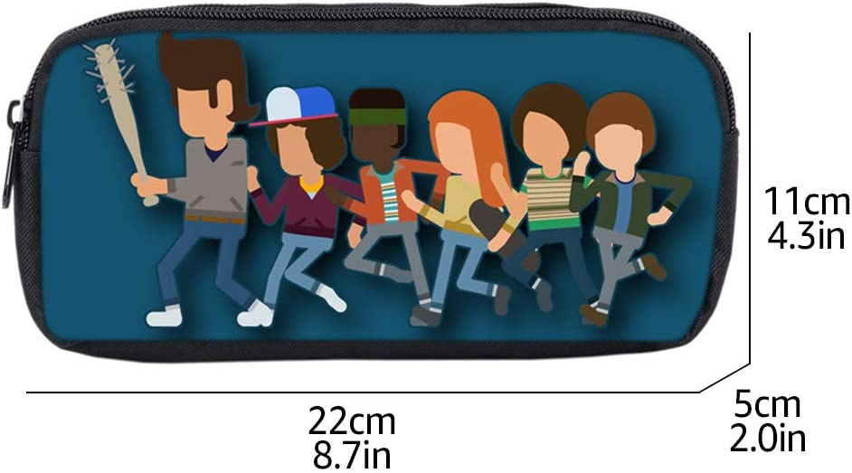 Sac de Stylo Ado Garcon Fille Trousse Ecole Primaire Multifontion Etui /à Crayons Impression 3D Papeterie Pouch Portable Fans de Drame Am/éricain Trousse Scolaire Enfant Stranger Things 10