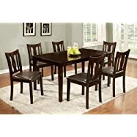 Furniture of America Northvale I Dining Table Set, Espresso Finish, 7-Piece