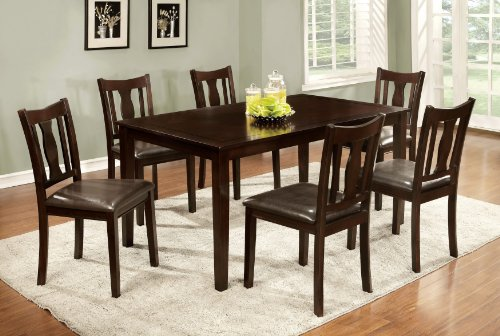 Furniture of America Northvale I Dining Table Set, Espresso Finish, 7-Piece - 7 Piece Espresso Finish