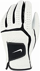Nike Golf Men's Dura Feel VI - Junior Left Hand Regular Glove (White/Black, Medium)