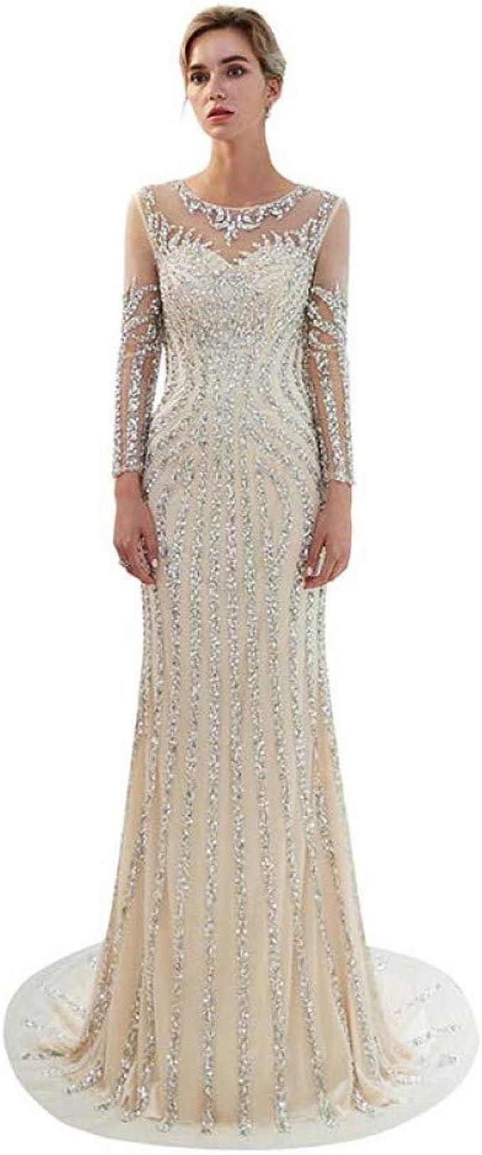 BINGQZ Damen/Elegant Kleid/Cocktailkleider Perlen Abendkleider