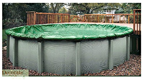 27 Ft Above Ground Pool Solid Winter Cover Round Protective Ultra Armor Maxx Platinum Cable Winch 15 Year Warranty Ground Solid Winter Cover