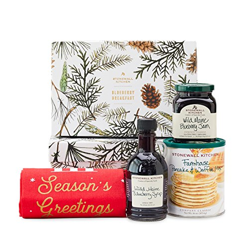 Stonewall Kitchen Holiday 2018 Blueberry Breakfast Gift Set (4 Piece Gift Set) made in New England