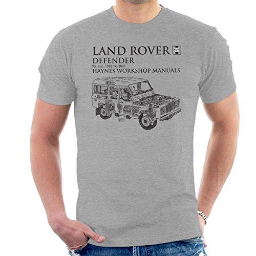 Haynes Owners Workshop Manual 3017 Land Rover Defender Black Men's T-Shirt