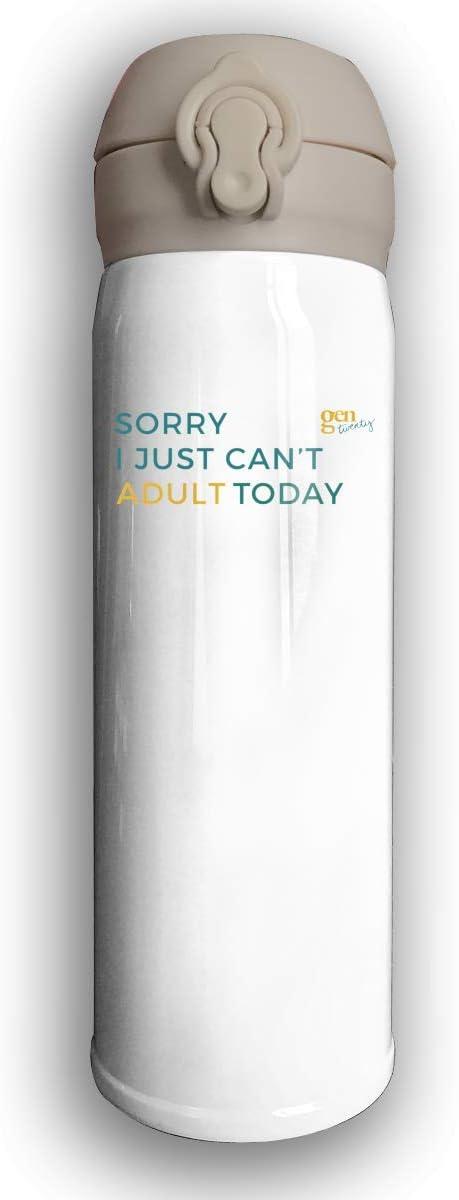 Bestqe Taza Térmica,Termo de Café de Acero Inoxidable,Botella Sorry I Just Can't Adult Today Prueba de Fugas Taza de Café Térmica 17 Oz