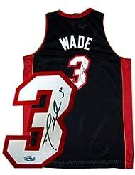 Autographed Dwyane Wade Uniform - Black Swingman - Autographed NBA Jerseys