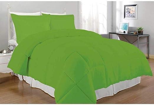 Amazon Com Unk 3pc King Lime Green Comforter Set Microfiber